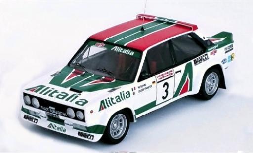 Fiat 131 1/43 Trofeu Abarth No.3 Alitalia Rallye WM Criterium Molson du Quebec 1978 W.Röhrl/C.Geistdörfer coche miniatura