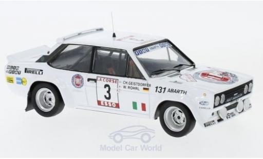 Fiat 131 1/43 Trofeu Abarth No.3 Rallye Tour de Corse 1980 W.Röhrl/C.Geistdörfer ohne Vitrine miniature