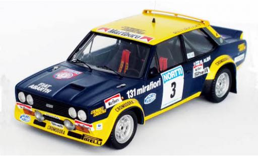Fiat 131 1/43 Trofeu Abarth No.3 Rallye WM 1000 Lakes Rally 1976 M.Alen/I.Kivimäki diecast model cars