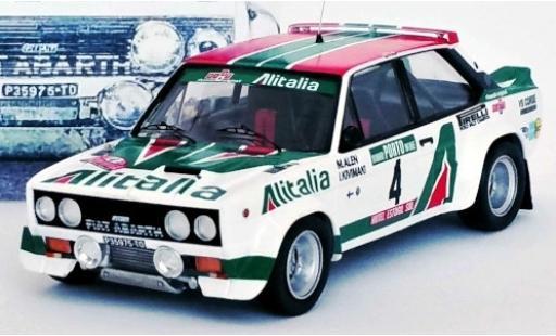 Fiat 131 1/43 Trofeu Abarth No.4 VS Corse Olio Alitalia Rally Portugal 1978 Unfallfahrzeug M.Alen/I.Kivimaki coche miniatura