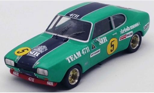 Ford Capri 1/43 Trofeu MK I RS 2600 No.5 Team 4711 Sir irishmoss 4711 4H Zandvoort 1972 N.Chiotakis/C.Bourgoignie miniature