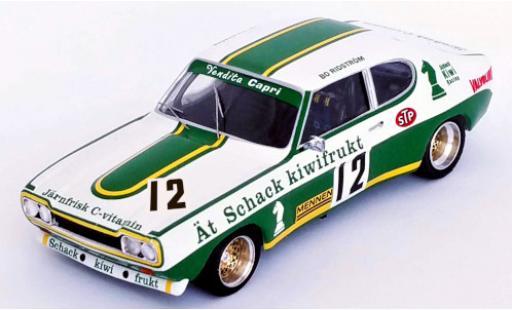 Ford Capri 1/43 Trofeu MKI RS 2600 No.12 Schack Kiwi Racing Swidish Gold Cup Kinnekulle Ring 1973 B.Ridström coche miniatura