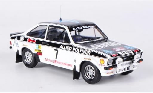 Ford Escort 1/43 Trofeu II RS 1800 No.7 Allied Polymer Rallye Wales 1976 A.Vatanen miniature