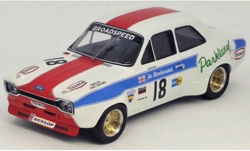 Ford Escort 1/43 Trofeu MK I 1300 GT RHD No.18 Broadspeed Tourist Trophy Silverstone 1973 P.Hanson diecast model cars