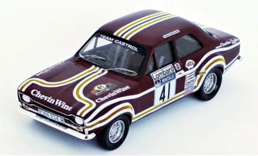 Ford Escort 1/43 Trofeu MK I RHD No.41 Team Castrol Chevin Wine Rallye WM RAC Rallye 1974 T.Drumond/D.Richards miniature