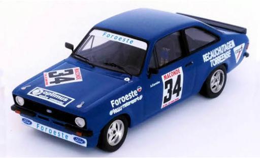 Ford Escort 1/43 Trofeu MK II No.34 Vila do Conde 1980 A.Carreira coche miniatura