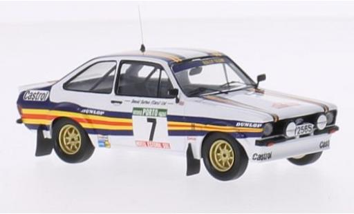 Ford Escort 1/43 Trofeu MK II No.7 Rothmans Rallye WM Rallye Portugal 1980 avec Decals A.Vatanen/D.Richards miniature