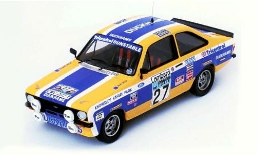 Ford Escort 1/43 Trofeu MK II RHD No.27 Duckhams Rallye WM RAC Rallye 1979 A.Carter/D.West miniature