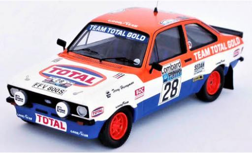Ford Escort 1/43 Trofeu Mk II RS 1800 RHD No.28 Total Rallye WM RAC Rallye 1979 M.Wilson/T.Harryman coche miniatura