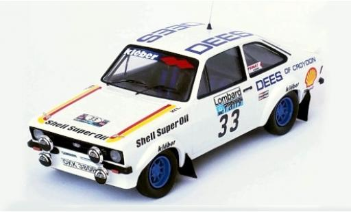 Ford Escort 1/43 Trofeu MK II RS 1800 RHD No.33 Dees of Croydon Rallye WM RAC Rallye 1980 T.Brise/P.Short diecast model cars
