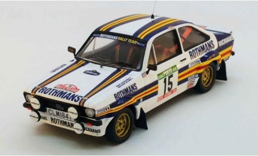 Ford Escort 1/43 Trofeu MK II RS No.15 Rothmans Rallye WM Rally Portugal 1981 M.Wilson/T.Harryman diecast model cars