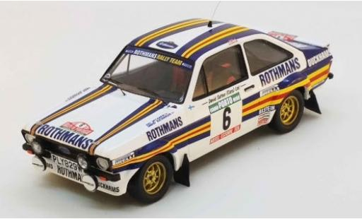 Ford Escort 1/43 Trofeu MK II RS No.6 Rothmans Rallye WM Rally Portugal 1981 A.Vatanen/D.Richards diecast model cars