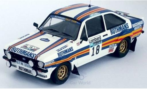 Ford Escort 1/43 Trofeu MK II RS RHD No.18 Rothmans Rally Team Rothmans Rallye WM RAC Rallye 1981 M.Wilson/T.Harryman miniature