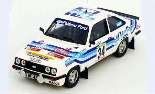 Ford Escort 1/43 Trofeu MK II RS2000 No.34 Palacio Rallye WM Rallye Portugal 1980 J.Moutinho/M.Sottomayor miniature