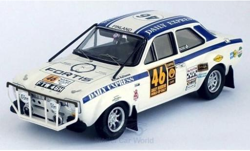 Ford Escort 1/43 Trofeu MKI No.46 Daily Express London - Mexico World Cup Rally 1970 R.Aaltonen/H.Liddon miniature