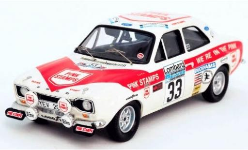Ford Escort 1/43 Trofeu MkI RHD No.33 Pink Stamps Rally WM RAC Rally 1975 N.Rockey/D.Tucker diecast model cars