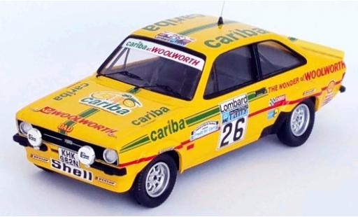 Ford Escort 1/43 Trofeu MKII RS 1800 RHD No.26 Cariba Rallye WM RAC Rally 1977 A.Dawson/A.Marriott diecast model cars