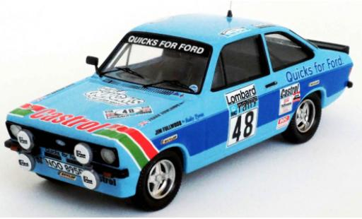 Ford Escort 1/43 Trofeu MkII RS 2000 RHD No.48 Quicks Team Castrol Quicks for Rallye WM RAC Rally 1980 M.Stuart/F.Rowlands