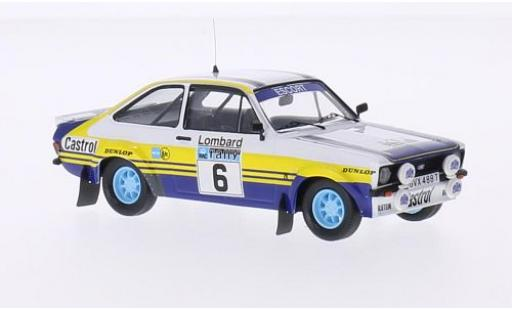 Ford Escort 1/43 Trofeu MKII RS No.6 Rothmans Rallye WM RAC Rallye 1979 avec Decals A.Vatanen/D.Richards miniature