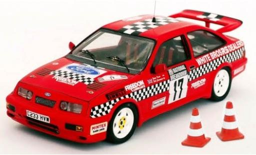 Ford Sierra 1/43 Trofeu RS Cosworth RHD No.17 National Breakdown Rally 1987 avec Pylônes R.Stoneman/P.Davis diecast model cars