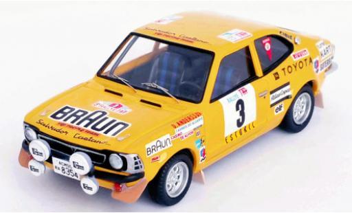 Toyota Corolla 1/43 Trofeu Levin No.3 VIP Racing Team Braun Rallye WM Rallye Portugal 1974 O.Andersson/A.Hertz diecast model cars
