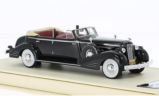 Cadillac V16 1/43 TrueScale Miniatures Convertible Sedan noire 1936 miniature