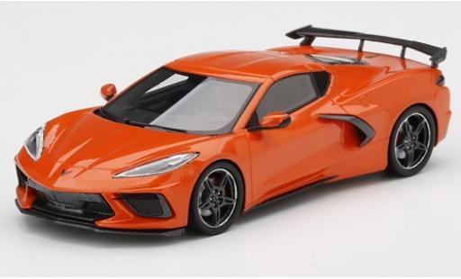 Chevrolet Corvette 1/43 TrueScale Miniatures C8 Stingray orange 2020 miniature