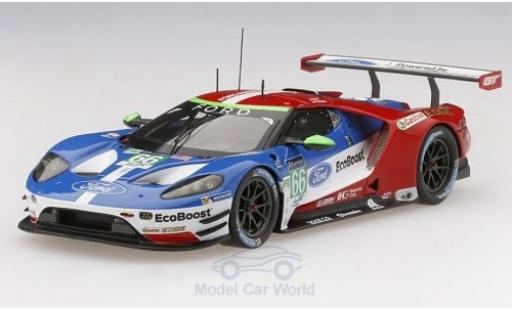Ford GT 1/43 TrueScale Miniatures No.66 Chip Ganassi Team UK 24h Le Mans 2017 S.Mücke/O.Pla/B.Johnson miniature