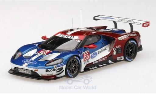 Ford GT 1/43 TrueScale Miniatures No.66 Chip Ganassi Team UK WEC 6h Spa 2018 S.Mücke/O.Pla/B.Johnson miniature