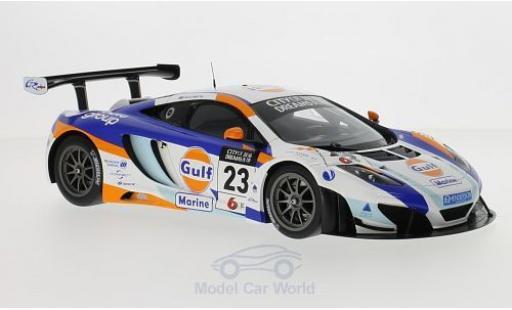 McLaren MP4-12C 1/18 TrueScale Miniatures 12C GT3 No.23 United Autosport Gulf GP Macau 2013 D.Watts miniature