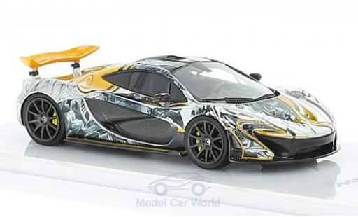 McLaren P1 1/43 TrueScale Miniatures Art Car by Sticker City 2014 miniature