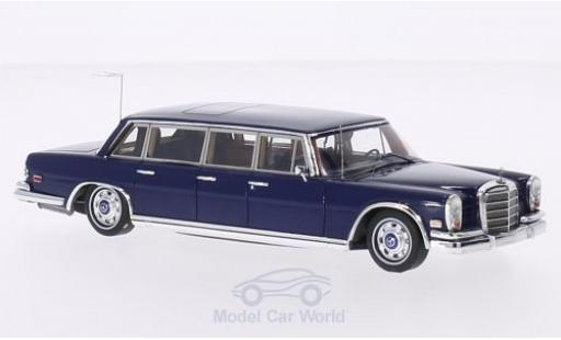 Mercedes 600 1/43 TrueScale Miniatures (W100) Pullman bleue 1969 Elvis Presley miniature