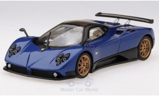 Pagani Zonda 1/43 TrueScale Miniatures F métallisé bleue 2006 miniature