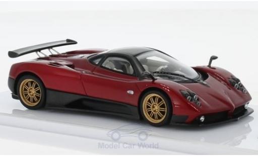 Pagani Zonda R 1/43 TrueScale Miniatures F métallisé rouge/carbon 2006 miniature