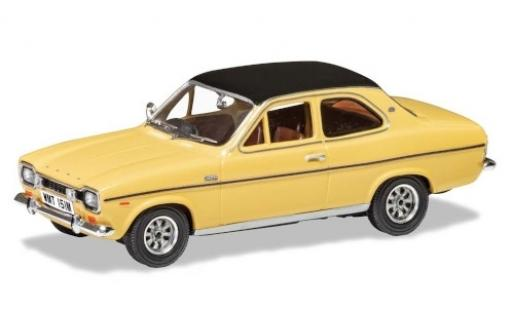Ford Escort 1/43 Vanguards Mk1 1300E beige/matt-black RHD diecast model cars