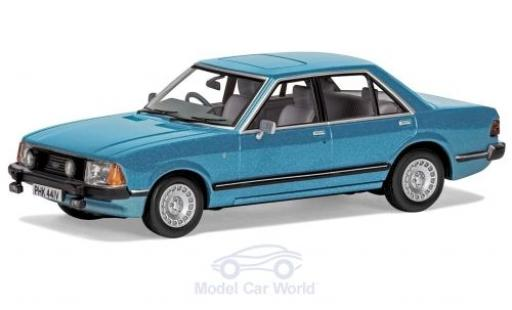 Ford Granada 1/43 Vanguards MKII 2.8i Ghia metallise bleue RHD miniature