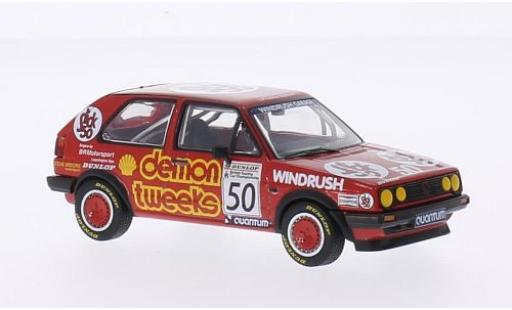 Volkswagen Golf 1/43 Vanguards II GTI RHD No.50 Demon Tweeks Team Demon Tweeks BTCC Silverstone 1988 A.Minshaw diecast model cars