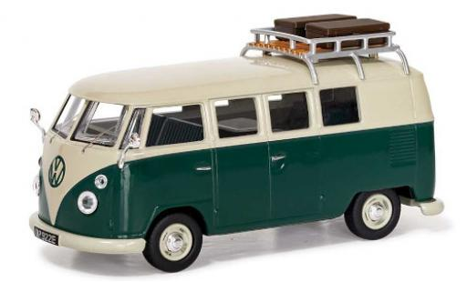 Volkswagen T1 1/43 Vanguards 1500 SP Devon Caravette (Type 2) green/white RHD avec Rack de toit diecast model cars