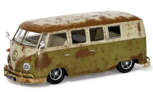Volkswagen T1 1/43 Vanguards 1500 (Type 2) green/grey RHD Rat-Look Splitty diecast model cars