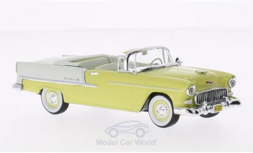 Chevrolet Bel Air 1/43 Vitesse Convertible jaune/blanche 1955 miniature