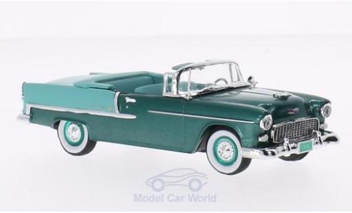 Chevrolet Bel Air 1/43 Vitesse Convertible metallise green/turquoise 1955 diecast model cars
