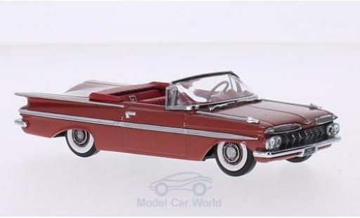 Chevrolet Impala 1959 1/43 Vitesse Convertible metallise red diecast model cars