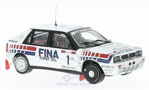 Lancia Delta HF Integrale 1/43 Vitesse 16V No.1 Fina Rallye WM Tour de Corse 1991 D.Auriol/B.Occelli miniature