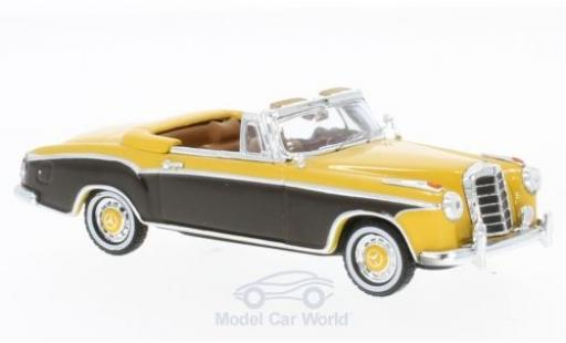 Mercedes 220 SE 1/43 Vitesse Cabriolet yellow/brown 1958 diecast model cars
