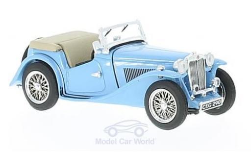MG TC 1/43 Vitesse bleue RHD miniature