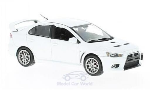 Mitsubishi Lancer 1/43 Vitesse Evo X Final Edition metallic-blanche miniature