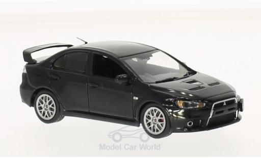 Mitsubishi Lancer 1/43 Vitesse Evo X Final Edition noire miniature
