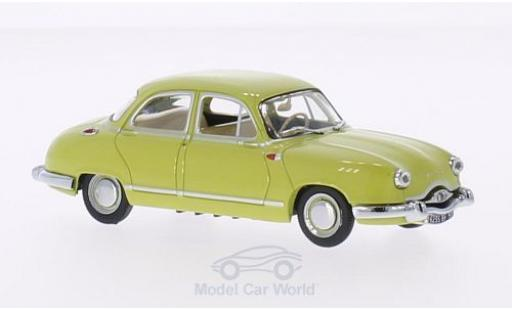 Panhard Dyna 1/43 Vitesse Z1 Luxe Special jaune 1954 miniature