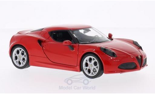Alfa Romeo 4C 1/24 Welly red 2014 diecast model cars