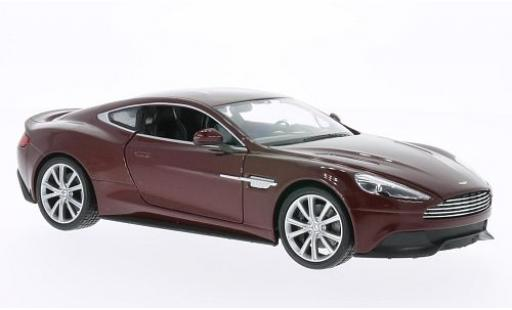 Aston Martin Vanquish 1/24 Welly metallise rouge miniature